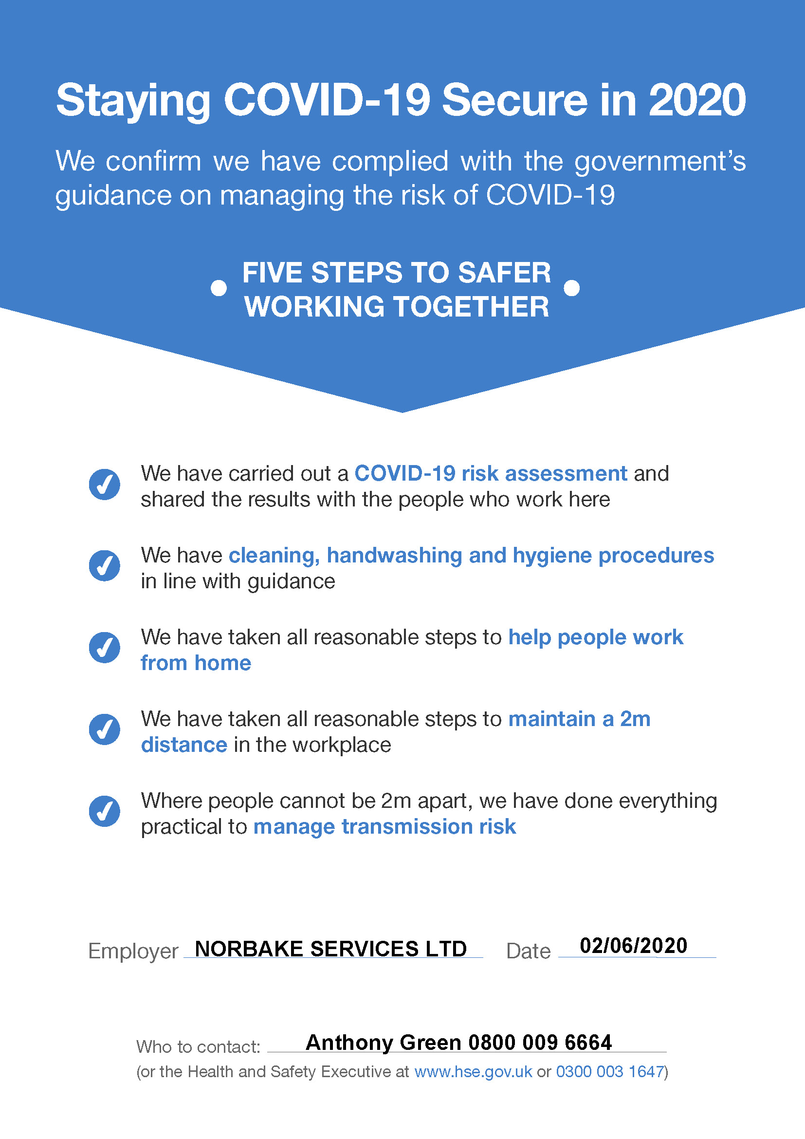 Norgroup | COVID-19 Secure